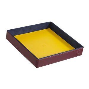 DuDu Svuotatasche in Pelle Burgundy Multicolore Rigido di Design da Ingresso