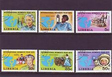 Liberia Mi 946-51 International Women's Year 1975 Used C.W. 1,75 euro