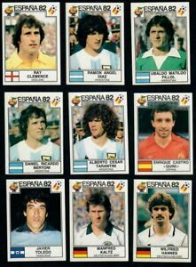 Panini España 82 World Cup Spain Espana 1982 Lot 9 Stickers Original