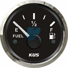 KUS Fuel Level Gauge Boat/Marine Fuel Level Indicator 12/24V 52mm 240-33 ohms