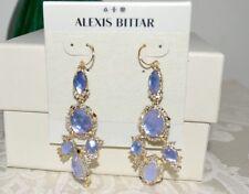 w/ Custom Cut Iolite Crystals Pearl Nwt $395 Alexis Bittar Mosaic Chandelier