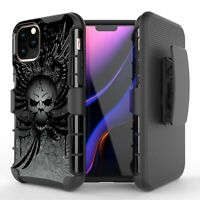 Mercenary Wing Skull Hybrid Armor Belt Clip Rugged Case for iPHONE 11 XR Series