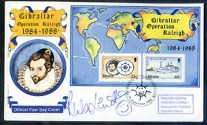 Gibraltar 1988 Operation Raleigh f.d.c. signed by Rula Lenska (2021/03/22#05)