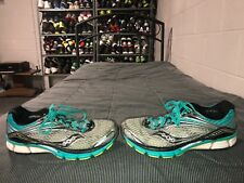 Saucony Triumph 11 Womens Running Training Shoes Size 9 Gray Blue Green Black