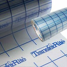 "TransferRite 24"" 10yd Transfer Paper w/Grid Self Adhesive Clear Application Tape"