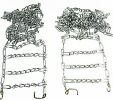 5548 Rotary Set Of 2 16x650x8 Snow Bower Tire Chains Deep Lug 2 Link  Spacing