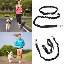 Dog Leash Lead Waist Belt Adjustable Hands Free For Jogging Walking Running UK