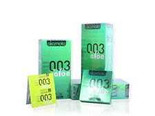 10Pcs OKAMOTO 003 ALOE Essence Ultra Thin Odorless Lubricated Latex Condom Pack