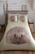 KING SIZE DUVET COVER SET PRICKLY HEDGEHOG CUTE ANIMAL PRINT 100% POLYESTER