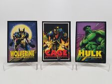 1993 Franklins Crunch & Munch Marvel Trading Cards Lot of 3 Wolverine Hulk Cage