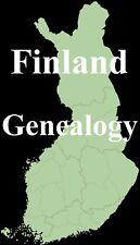 Finland Genealogy Parish Records Family Tree 12 Books Ancestry on CD DVD