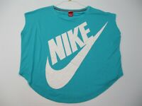 NIKE Top Women's Size XL Active Workout Running Loose Fit Light BLue Scoop