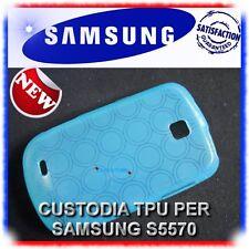 2X Pellicola+Custodia AZZURRO per Samsung Galaxy Next S5570 (B4)