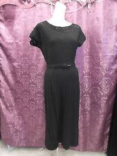 40s SO Garbo Blk Knit Dress w/Belt & MatchingJkt byKerrybrook  w/orig box sz S-M