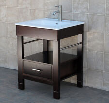 "24"" Bathroom Vanity 24-inch Cabinet Ceramic Top Intergrated Sink Faucet Cg"