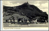 KÖNIGSWINTER 1955 Rhein Schiff Rheindampfer Drachenfels alte Postkarte