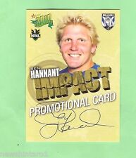 2010 RUGBY LEAGUE PROMOTIONAL CARD - BEN HANNANT, CANTERBURY BULLDOGS