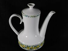 Beautiful Winterling Bavaria Schwarzenbach Teapot w/Yellow Roses & Purple Buds