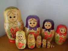 Lot 18x Matriochka poupée russe vintage hauteur max 20 cm