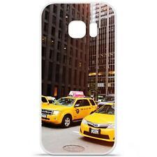 Coque Housse Etui Samsung Galaxy S7 à motif Silicone Gel - New York Taxi