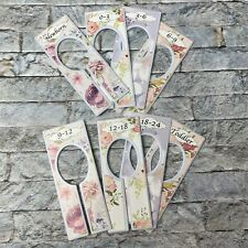 8 Baby Closet Dividers Rustic Floral Nursery Closet Dividers for Baby Clothes