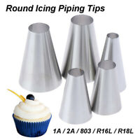 5pcs Large Round Cake Cream Decoration Tips Piping Icing Nozzles Pastry Too_JCSE