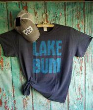 SIZE LARGE Lake Bum T-Shirt- Lake Lover Tee-Boating T-Shirt Boating Gifts