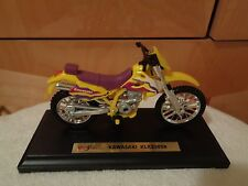 NEW ON STAND KAWASAKI KLX250SR YELLOW/PURPLE MOTORCYCLE MODEL 1:18 BIKE MODEL