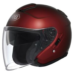 SHOEI J-Cruise Open-Face Motorcycle Helmet Solid Gloss Wine Red XSmall