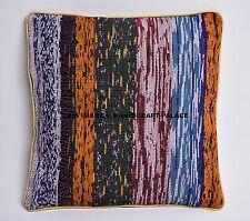 "Pillow Cover Throw Chindi Rug Cushion Indian Pillows Gypsy Pillow Boho Sham 16"""