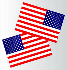 "Set of 2 LARGE American Flag Durable Quality Gloss Vinyl Decal Stickers 18""x12"""