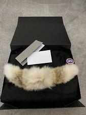 New Genuine Canada Goose Carson Parka Jacket  Black Small Coyote Fur RRP £950