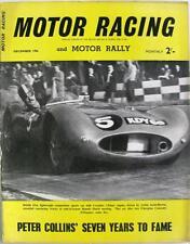 MOTOR RACING Magazine Dec 1956 - Peter Collins, Jaguar, Lotus, Triumph
