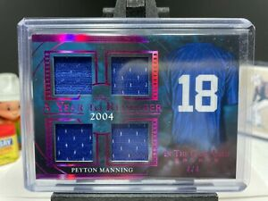 2020 Leaf In The Game Used PEYTON MANNING A Year To Remember 2004 QUAD Patch 4/4