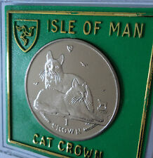 2011 Isle of Man Turkish Angora Breed Cat Crown Coin BU Gift Set in Display Case
