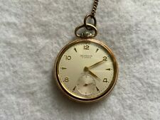 Mechanical Wind Up Pocket Watch Swiss Made Delaware 17 Jewels Vintage