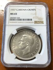 Great Britain 1937 Crown - NGC MS 65 - Top Pop 3/0 None Graded Higher