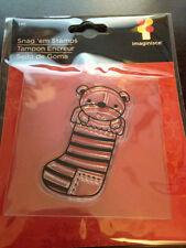 Imaginisce Santas Helper Stocking Clear Stamp!
