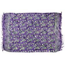 Sarong, Pareo, Wrap - Purple with green/gray batik - handmade in Bali -Hary Dary