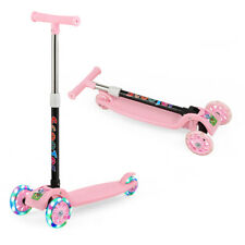 Outon Scooter For Kids 3 Wheel Kick Scooter For Toddler Girls Boys Stee Pink