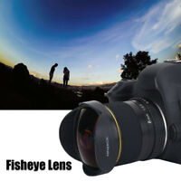 8MM f/3.5 Fisheye Lens for Nikon Canon Camera Ultra Wide Angle Aspherical Lenses