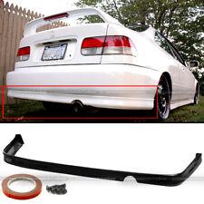 Fits 99-00 Honda Civic EK 2DR 4DR JDM PU Polyurethane T-R Style Rear Bumper Lip