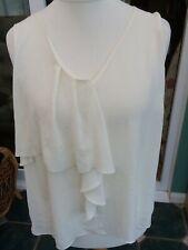 M&S uk 18 ivory new tags camisole floaty top sleeveless