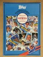 Topps Surf Baseball Card Book - Milwaukee Brewers Mlb 1987 Mint