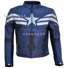 Classyak Mens Captain America Winter Soldier Leather Jacket Top Quality Xs-5xl