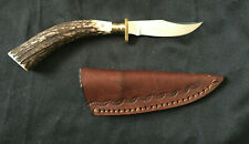 Clip Point 3 1/2 inch Stailness Steel Blade Stag Handle