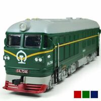 Alloy 1:87 Diesel Retro Train Model Locomotive Model Acousto-optic Toy