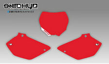 KIT ADESIVI GRAFICHE TABELLE RED YAMAHA YZ 125 250 DAL 2002 AL 2014 DECALS