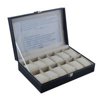 6 12 Slot /Grid Watch Box Detachable Jewelry Display Container Storage Holder