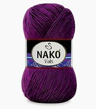 Premium Acrylic Nako Vals Yarn in Deacom (Deep Rich Purple) - 262 Yds